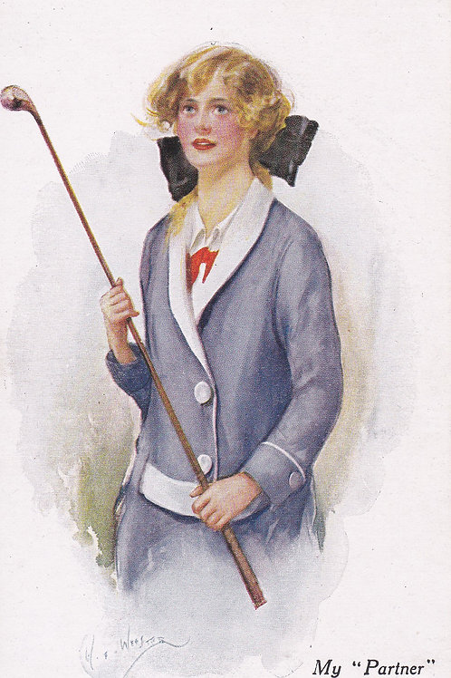 Golf Art/Fashion PC C.Ea 1900s Ref.1777a