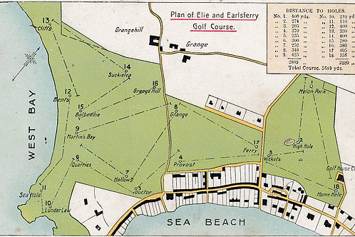 Elie & Earlsferry Course Plan  Ref.2007a C.1908