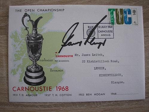 1968 British Open Golf FDC Ref BO.002 C.12.7.1968