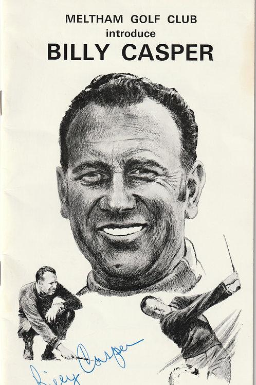 Billy Casper SIGNED Exhibition Match Prog. Ref. Eph. 048