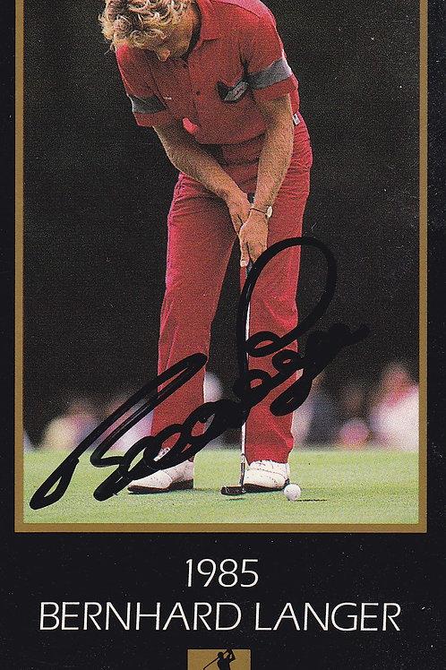 Bernhard Langer Signed Masters Ref.083