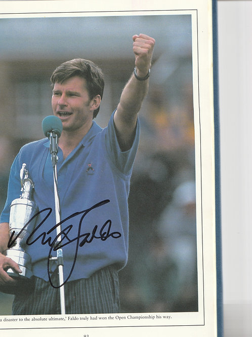 Signed British Open Golf Championship Annual Ref. Muirfield 1992