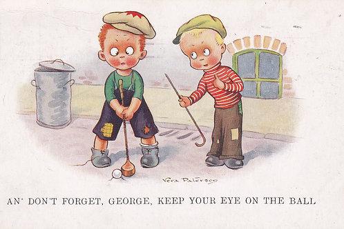 Comic Golf (Childrens) V Paterson. Ref 837 C.1937