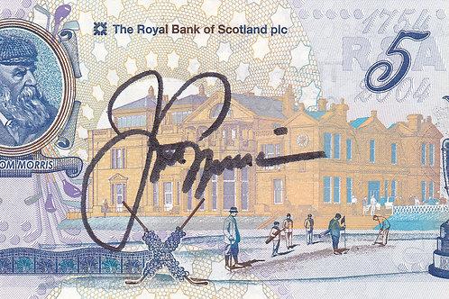 Jack Nicklaus Signed £5 Note.Ref 086 C.2004