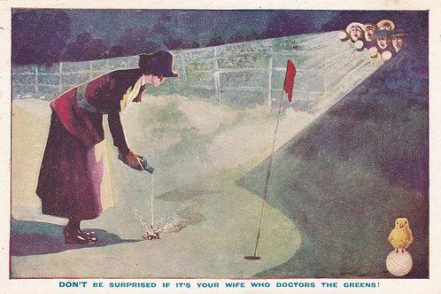 Golf Ball Ad Card Ref.1915 C.Pre 1914