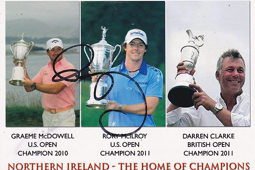 Rory McIlroy Signed PC.Ref 181  C.2010