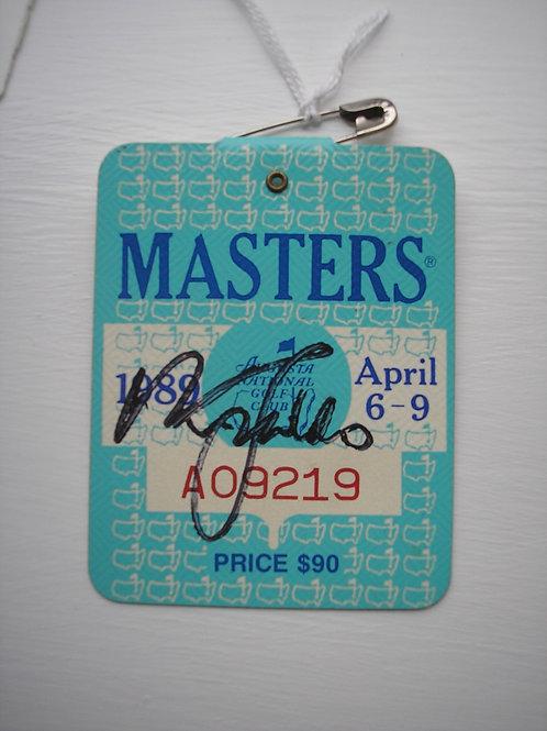 1989 Nick Faldo Signed Masters Badge Ref.USMB.061