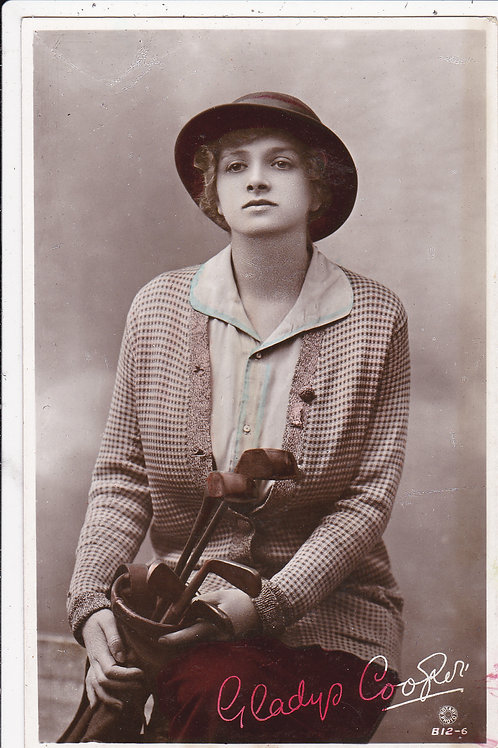 Golf Art PC Gladys Cooper Ref.183 C.1908-12