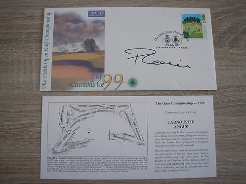 1999 Carnoustie  Open Comm Cover Signed Ref.127