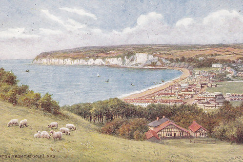 Seaton,Devon from The Golf Links.Ref 667 C.1918-39