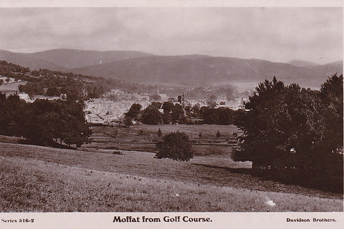 Moffat Village from The Golf Course.Ref 314 C.1909