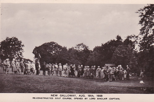 New Galloway G.C. Re-opening C.1928 Ref.1901