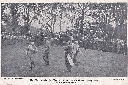 SOLD>Ref.297.Vardon v Braid ,Murrayfield.Ref 297. C.1904
