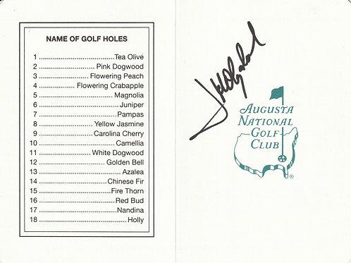 J.M.Olazabal Hand Signed Masters Scorecard.Ref.436