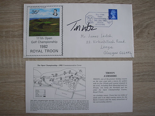 1982 Royal Troon FDC Signed Ref.040 C.1982