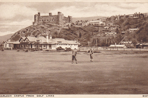 Harlech Links,Club House & Castle.Ref 1069  C.1943