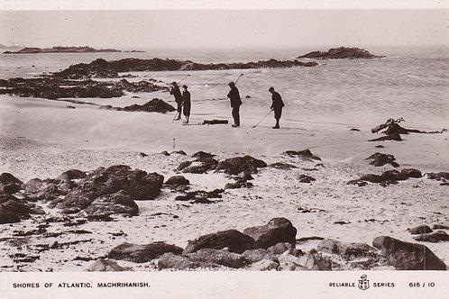Machrihanish Beach & Golfers.Ref 863 C.Early 1900s