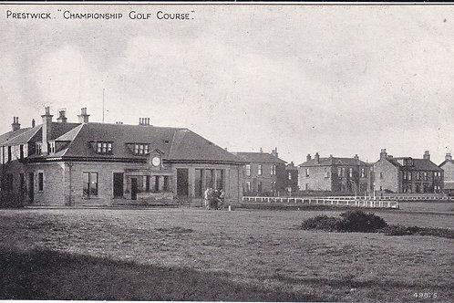 Prestwick(Old) Golf Club House C.Pre 1910 Ref.494