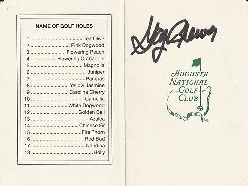 Gay Brewer 1967 Masters Champion Hand Signed Scorecard Ref.GM 278
