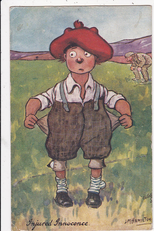 """Comic Golf PC """"Our Caddy """"Ref 1203 C.1905-8"""