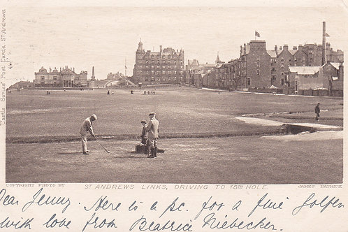 St.Andrews Old Course 18th Tee.Ref 775. C.1904