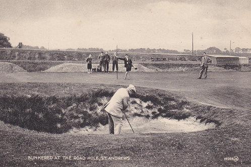 Kirkcaldy, A Road Hole Bunker.Ref 736. C.1920