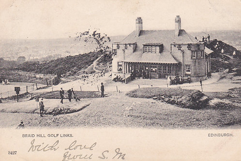 Braid Hills Golf Club House.Ref 393 C.1903