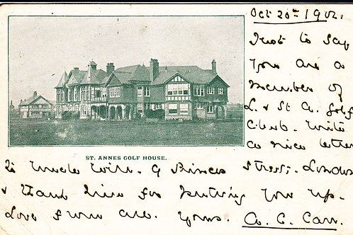 St.Annes(Lytham) Club House Ref.488 C.1902
