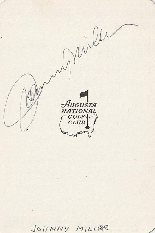 Johnny Miller Hand Signed Masters Par 3  S/card Ref.280 MINT