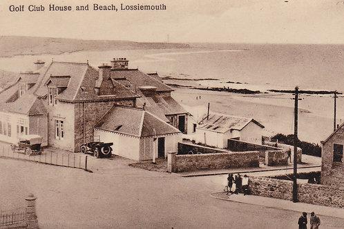 Moray Golf Club House & Beach.Ref 721 C.Early 1900