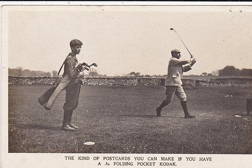 Kodak/Golf Ad Card C.Ea 1900s Ref.1391
