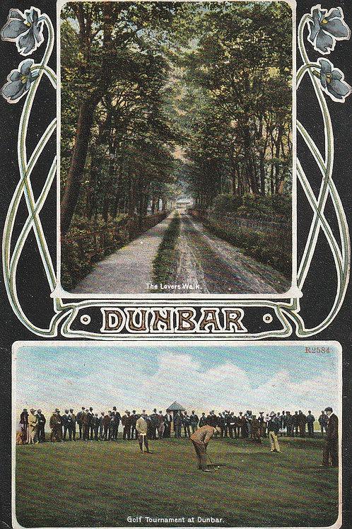 James Braid Golf Match Dunbar Ref.2459 C.Pre 1907