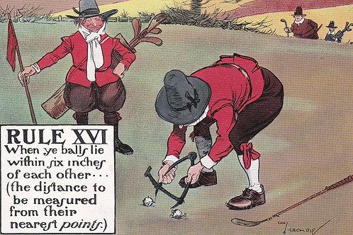 Chas.Crombie Comic Golf PC Ref.2155a C.1905-10