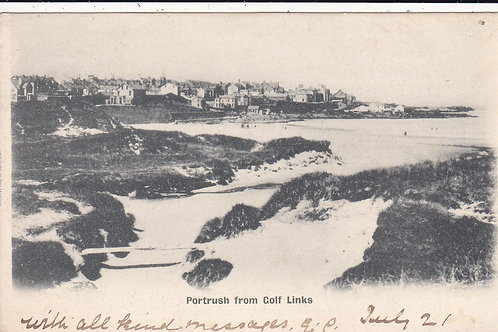 Portrush from the Golf Links Ref.058 C.1902