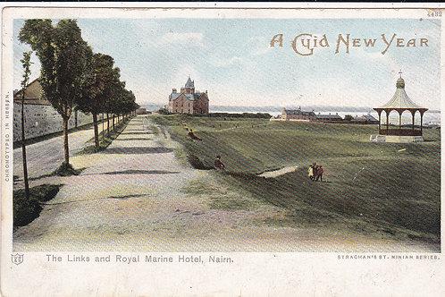 Nairn Links & Bandstand & Golf Hotel Ref.257 C.1903