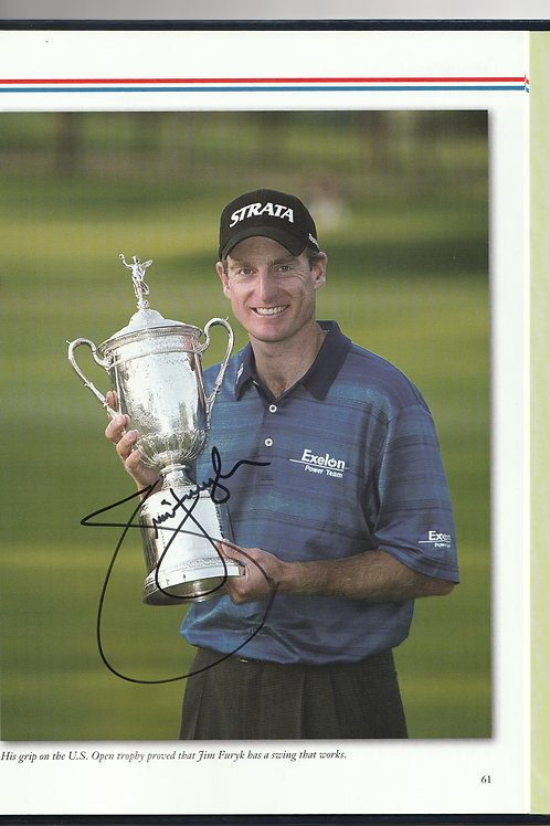 """2003 US """"OPEN"""" Annual Signed by Jim Furyk Ref.USO. 0011k"""