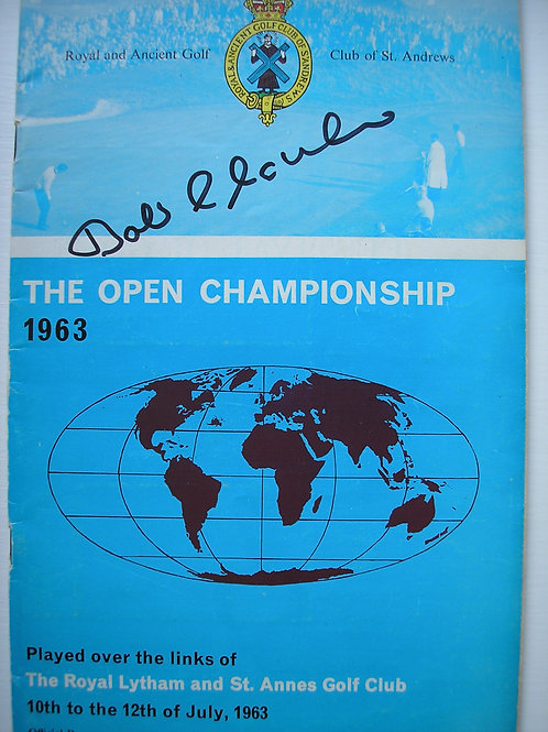 1963 British Open Golf Programme SIGNED Ref.43