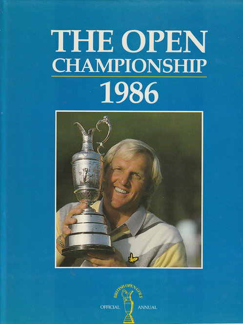 Signed British Open Golf Championship Annual 1986 Ref.232