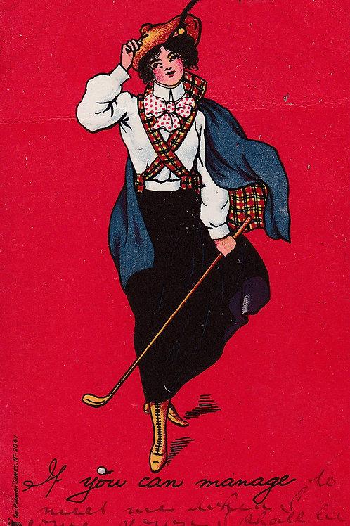 Ladies Golf/Art/Fashion PC C.1903 Ref.1870