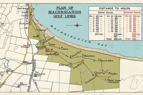 Machrihanish Links Layout Plan Ref.2654 C.pre 1914
