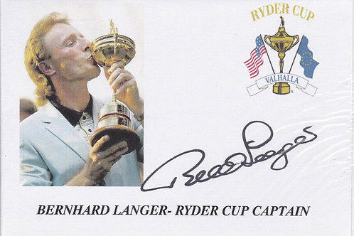 Ryder Cup  Valhalla Captain SIGNED Cover C.2008
