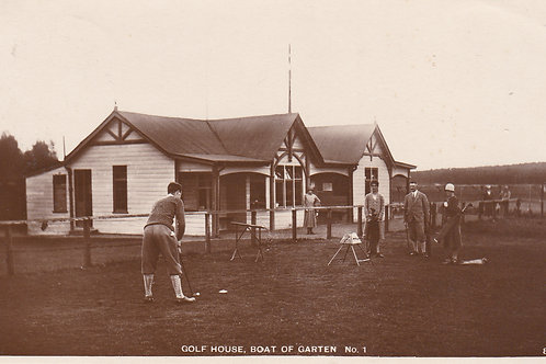 Boat of Garten Golf House & 1st Tee.Ref 624 C.1932