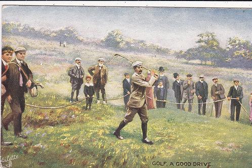 Harry Vardon. A Good Drive  C.1905 Ref.1283