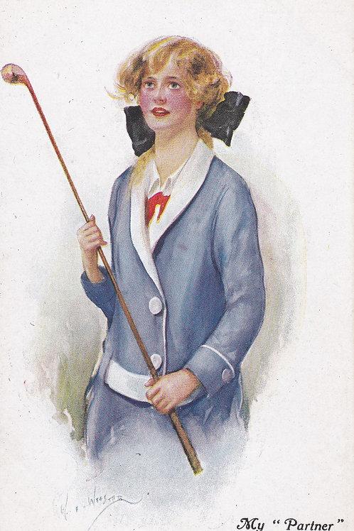 Golf Art/Fashion PC C.Ea 1900s Ref.2136a