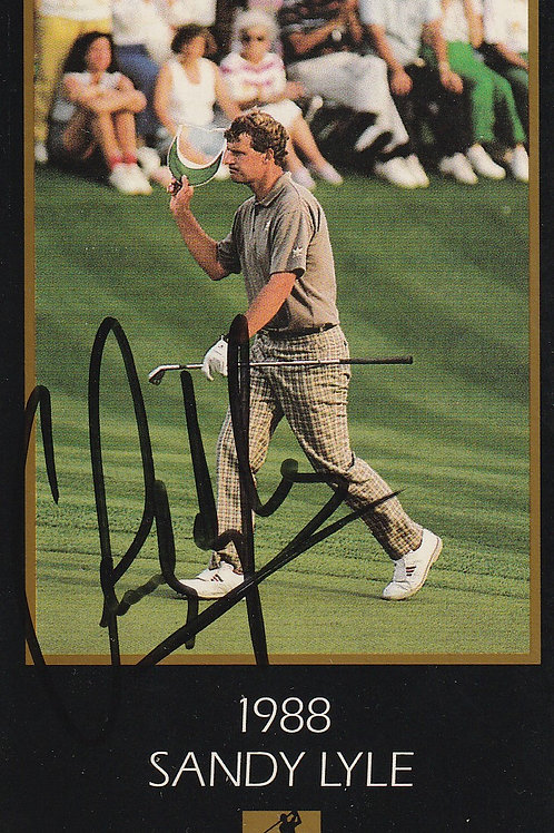 Masters Grand Slam card Signed by Sandy Lyle Ref.456