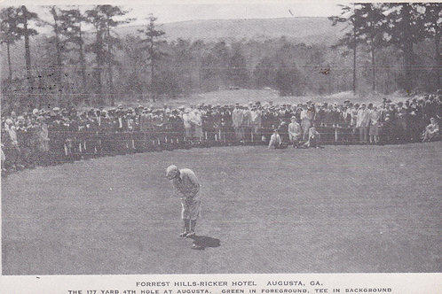 Jones, Bobby at Augusta  C.1930s. 80s Official Re-Issued Ref.791
