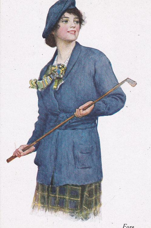 Ladies Golf/Art/Fashion PC C.1910-20 Ref.2021a