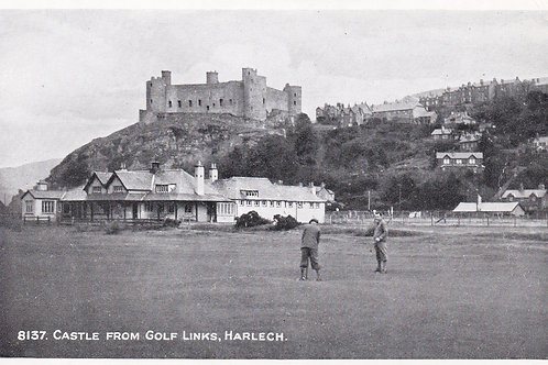 Harlech Castle from the Links Ref.1803 C.1920s-30s