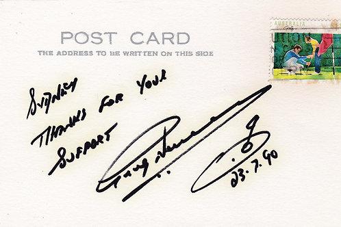 Norman, Greg Signed Postcard Ref.1313 C.1990