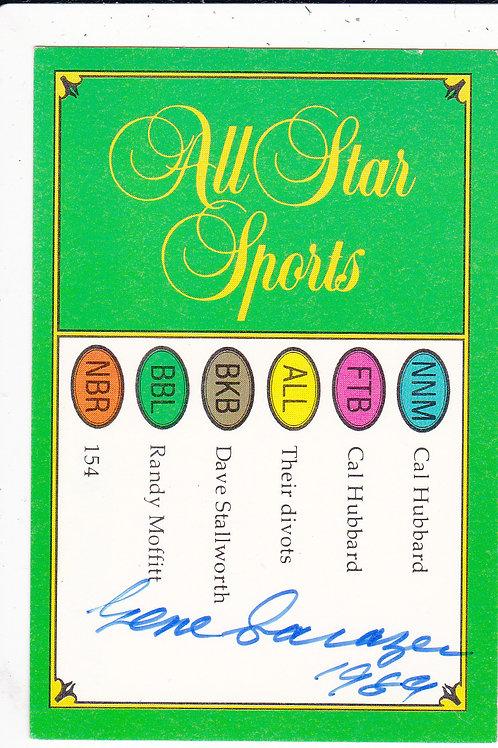 Gene Sarazen Signed Quiz Card Ref. 400